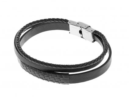 kozeny-naramek-tire-track-black-chirurgicka-ocel