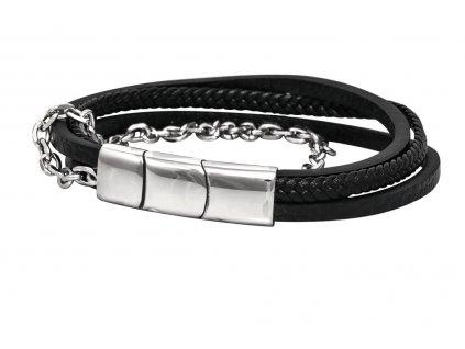 kozeny-naramek-steel-and-leather-chirurgicka-ocel