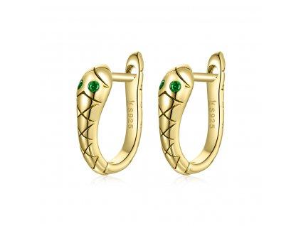 Stříbrné náušnice Královna Hadů Elegance Ag 925/1000