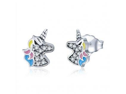 stribrne-nausnice-pecky-unicorn