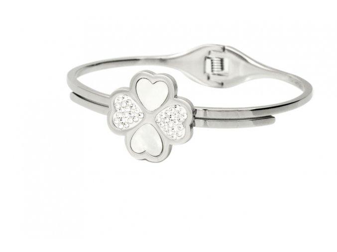 naramek-flower-lucky-love-chirurgicka-ocel