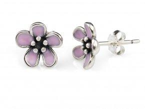 stribrne-nausnice-flower-pink