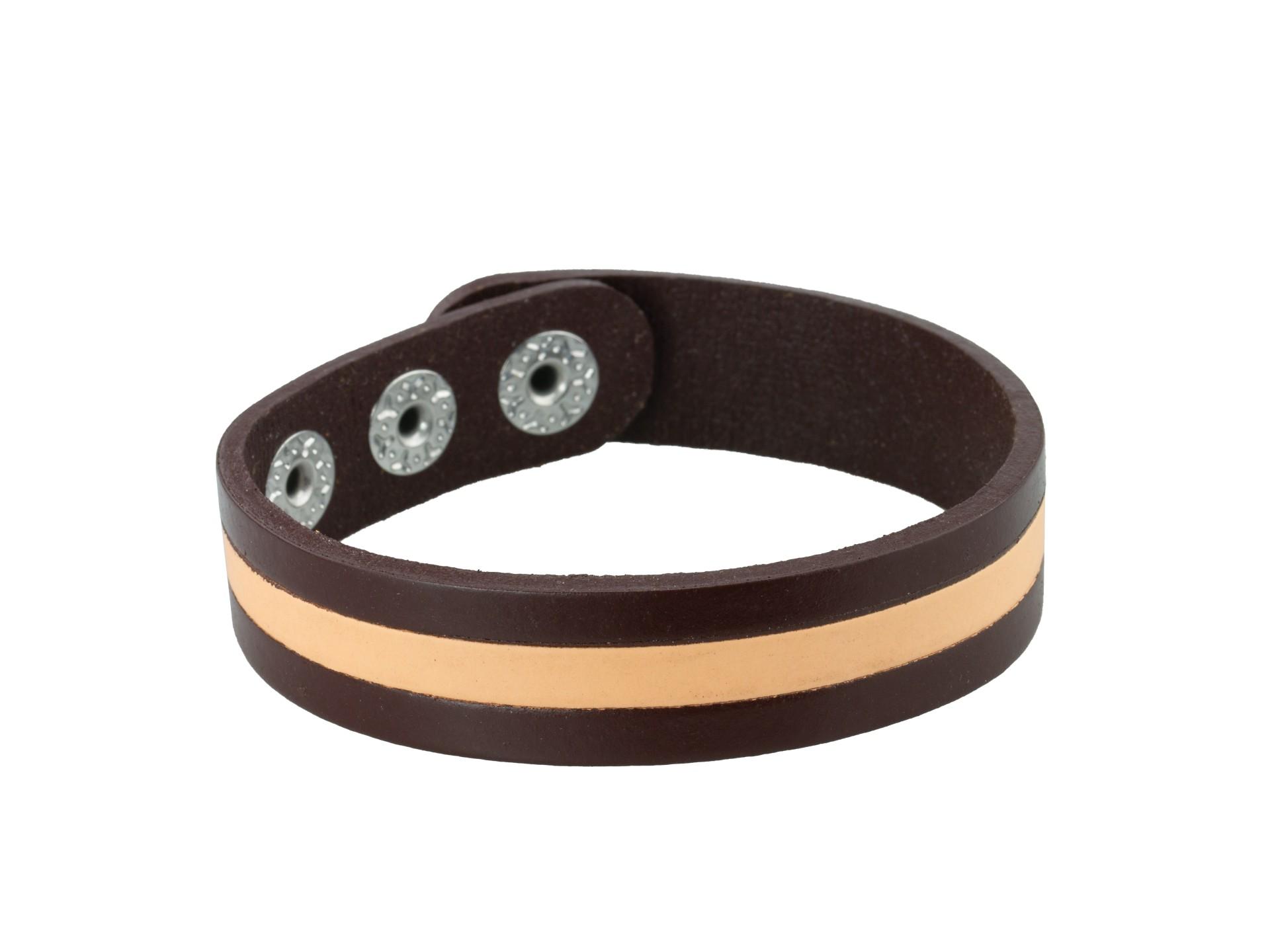 Linda's Jewelry Kožený náramek Simple Line INR060