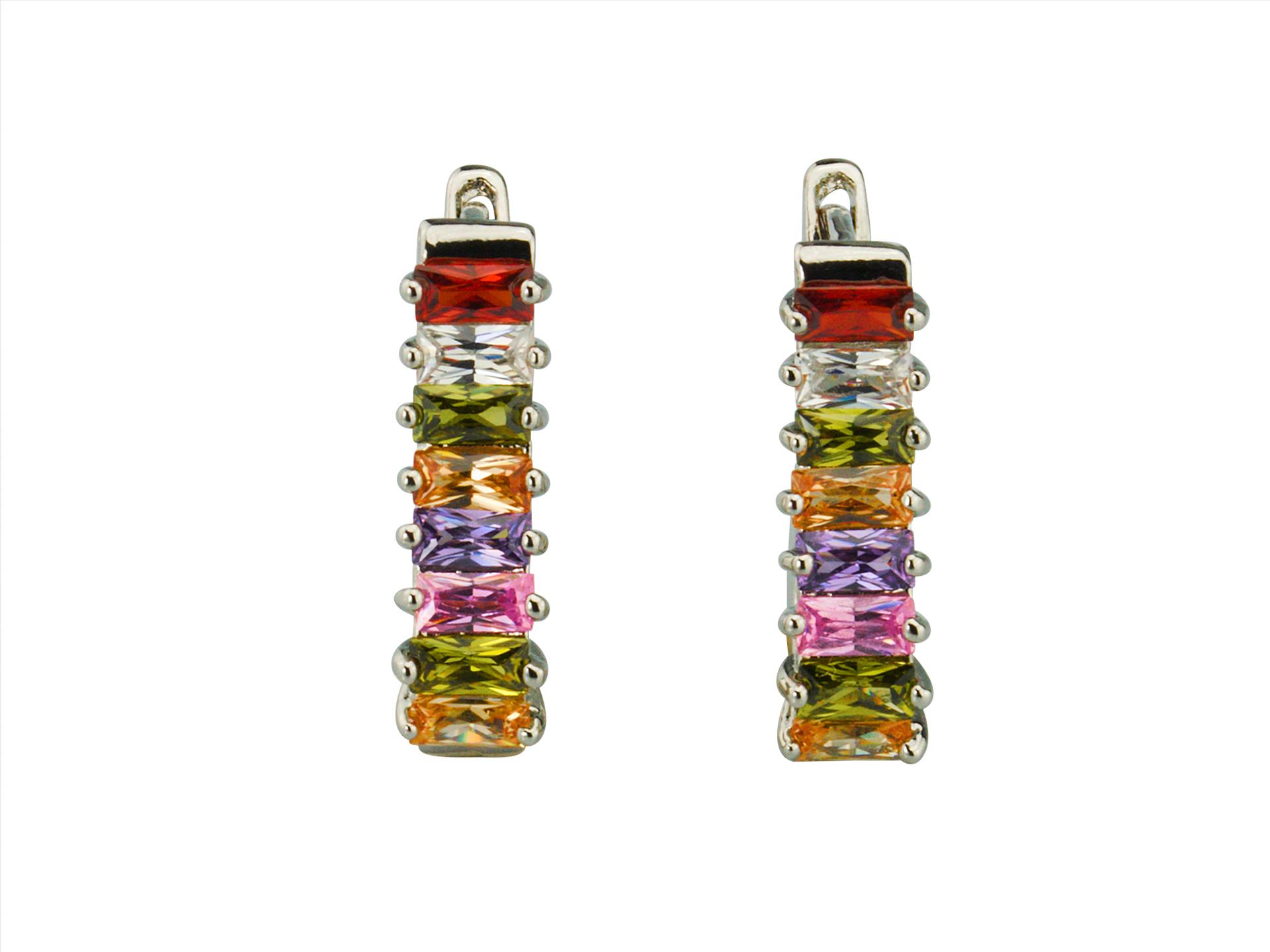 Linda's Jewelry Náušnice bižuterie Spring střední kruhy IN128
