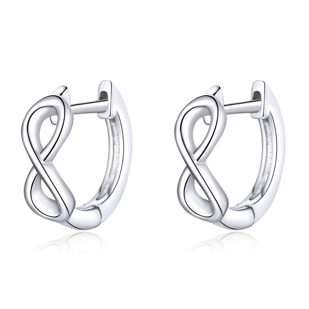 Linda's Jewelry Stříbrné náušnice Nekonečno malé kruhy Ag 925/1000 IN173