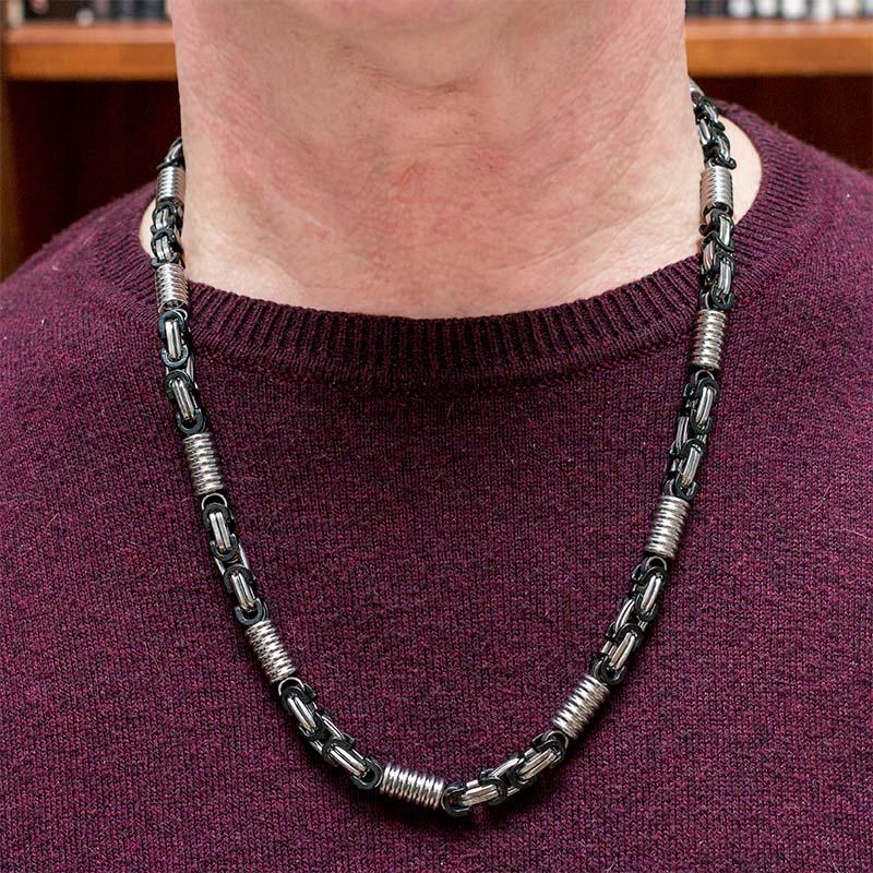Sam's Artisans Pánský náhrdelník Piston Black chirurgická ocel INHM011