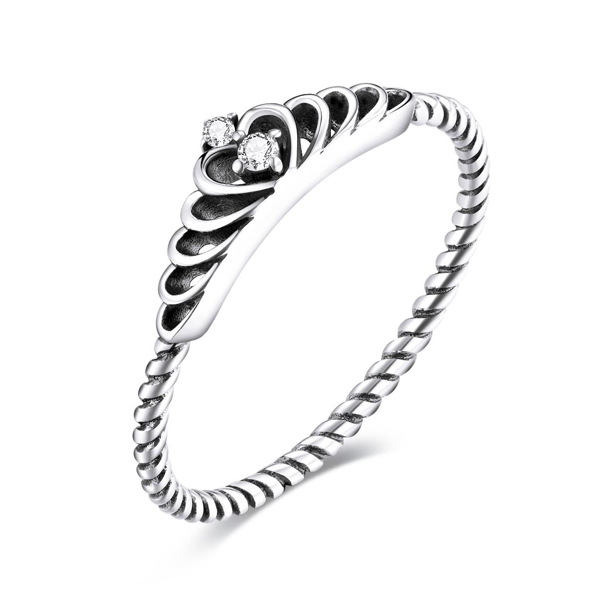 Levně Linda's Jewelry Stříbrný prsten Tiara Ag 925/1000 IPR081