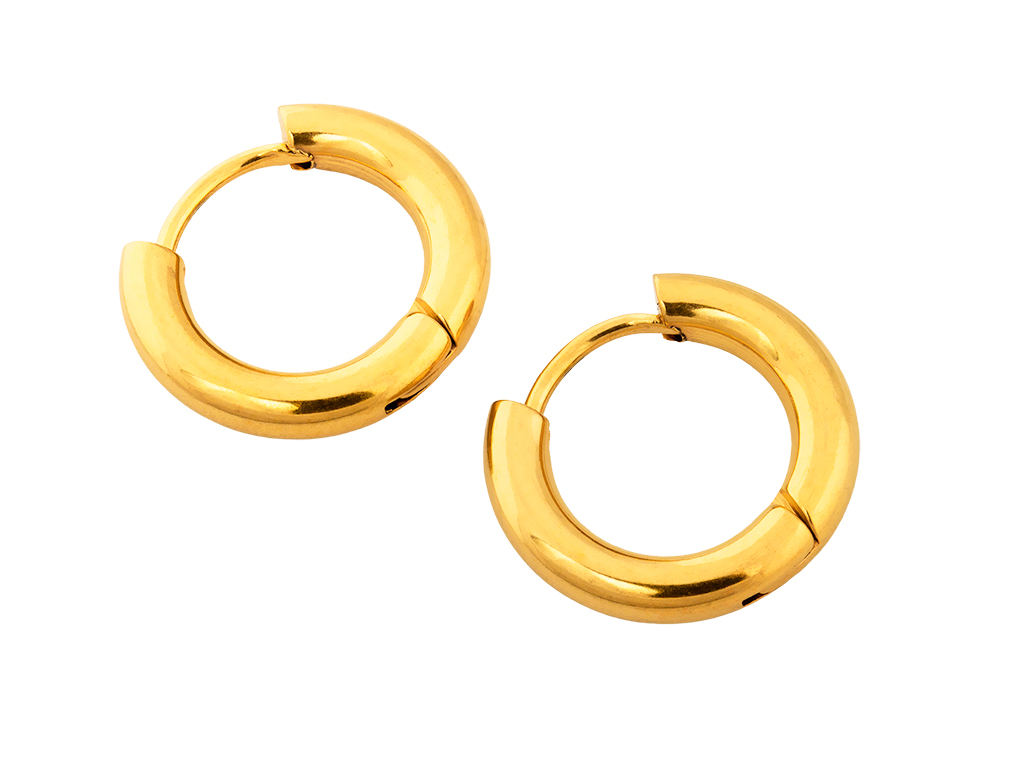 Linda's Jewelry Náušnice Simple kruhy kulaté malé Elegance Chirurgická ocel IN230