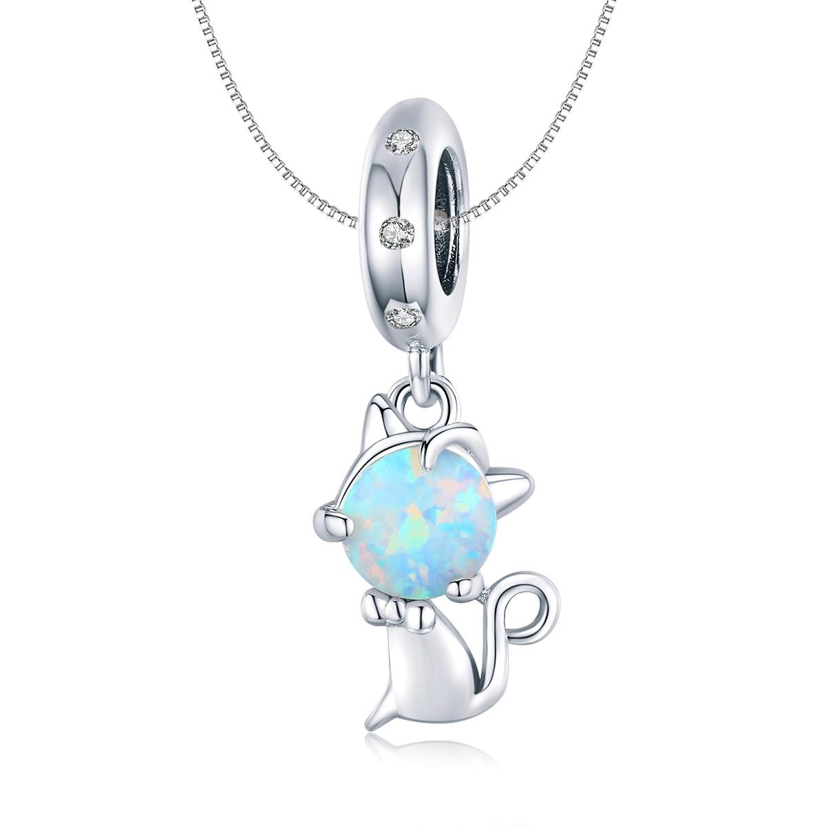 Linda's Jewelry Stříbrný náhrdelník Cute Cat Ag 925/1000 INH114
