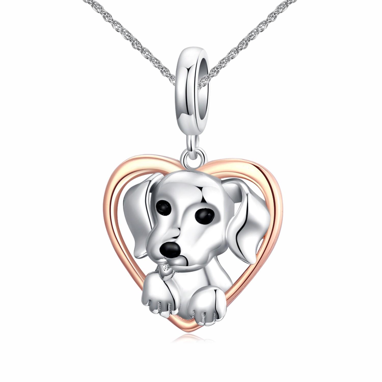 Linda's Jewelry Stříbrný náhrdelník Štěně Lásky Ag 925/1000 INH115