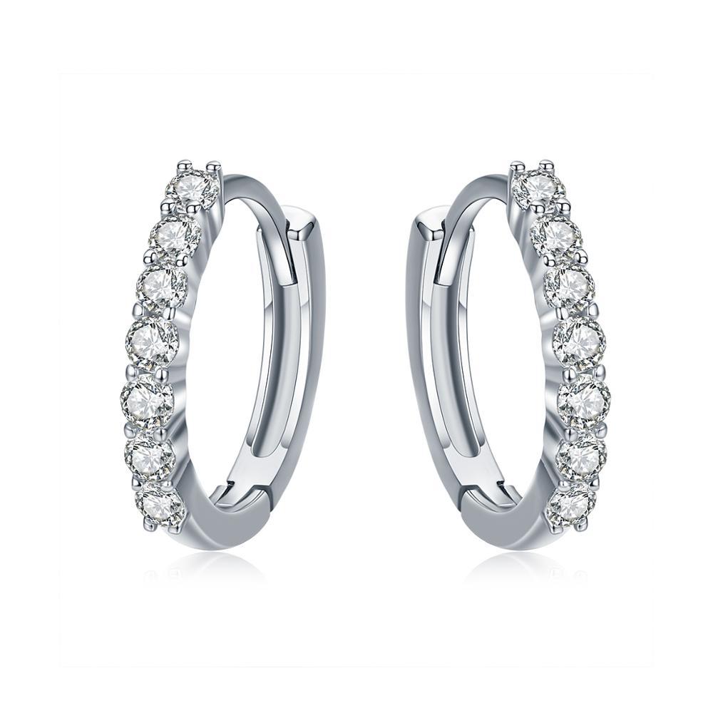 Linda's Jewelry Stříbrné náušnice Kruhy Shiny Line Malé IN059