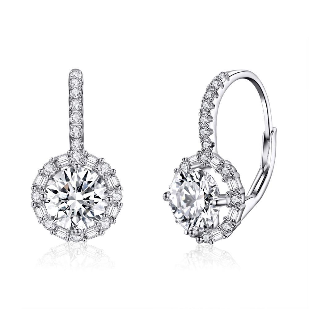 Linda's Jewelry Stříbrné náušnice Shiny Zirkon Patent IN075