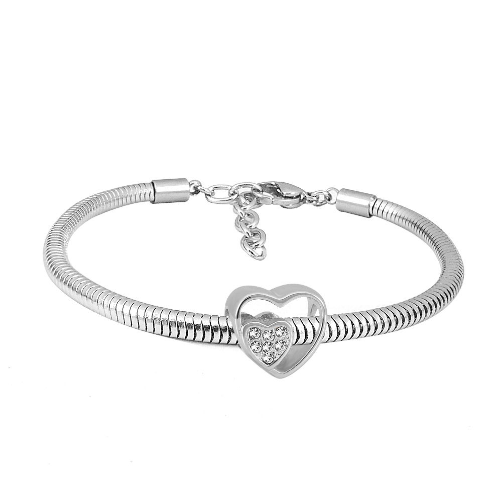 Levně Linda's Jewelry Náramek Crystal Love chirurgická ocel INR068