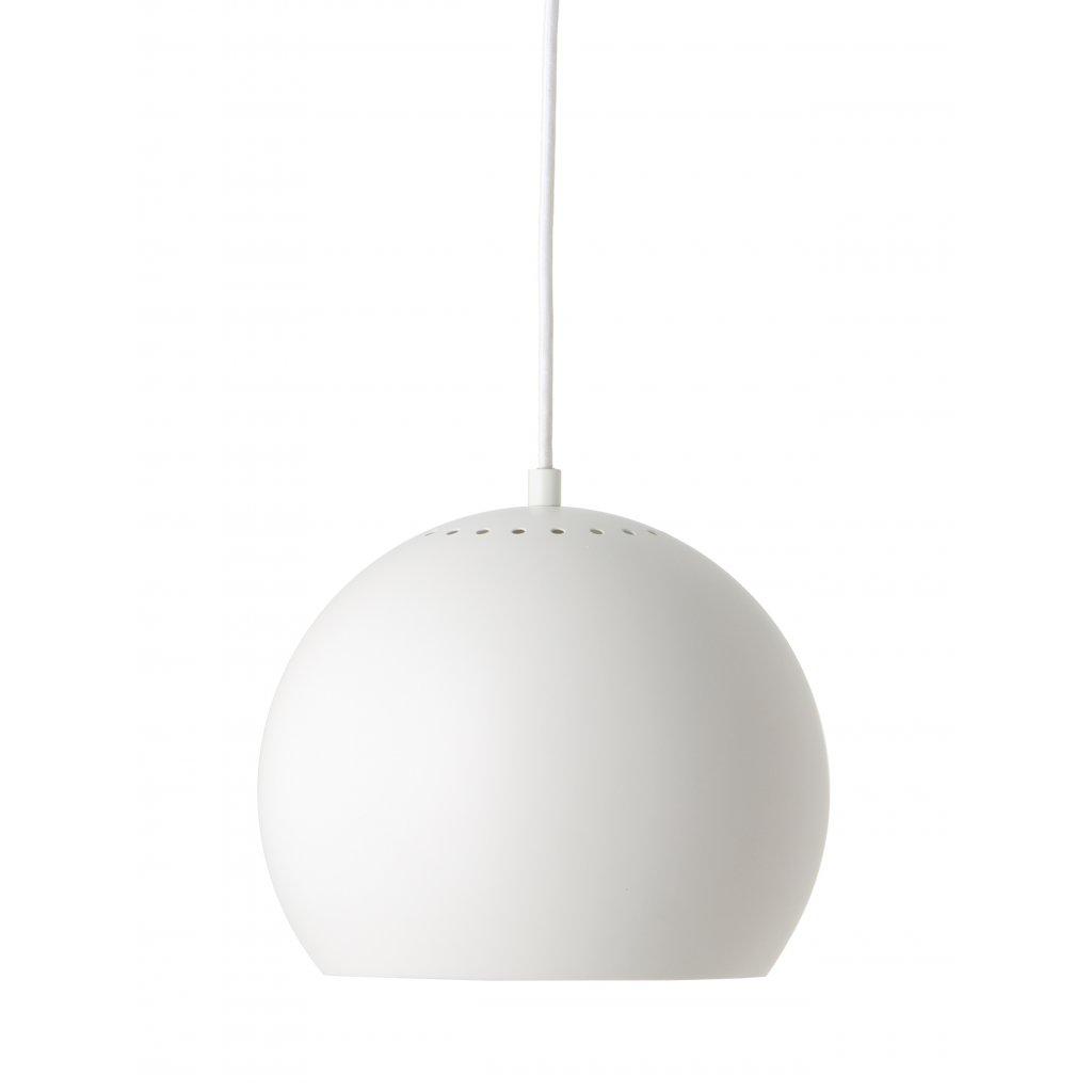 Ball pendant ø25 white matt