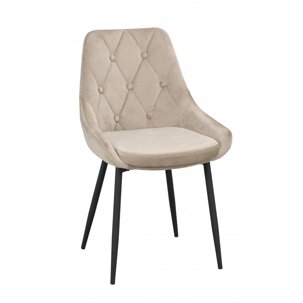 110412 b, Alberton stol, beige sammet svart R