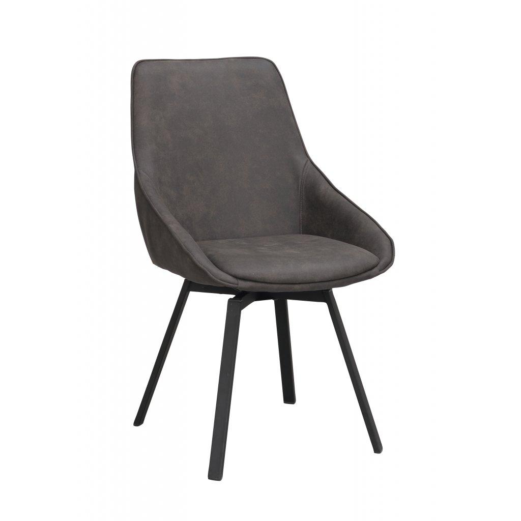 117762 b, Alison stol, mgrå microfiber svart