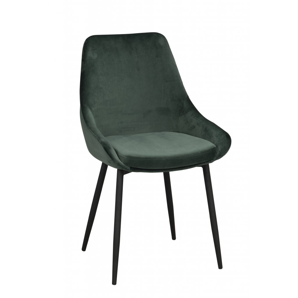 110397 b, Sierra stol grön sammet R