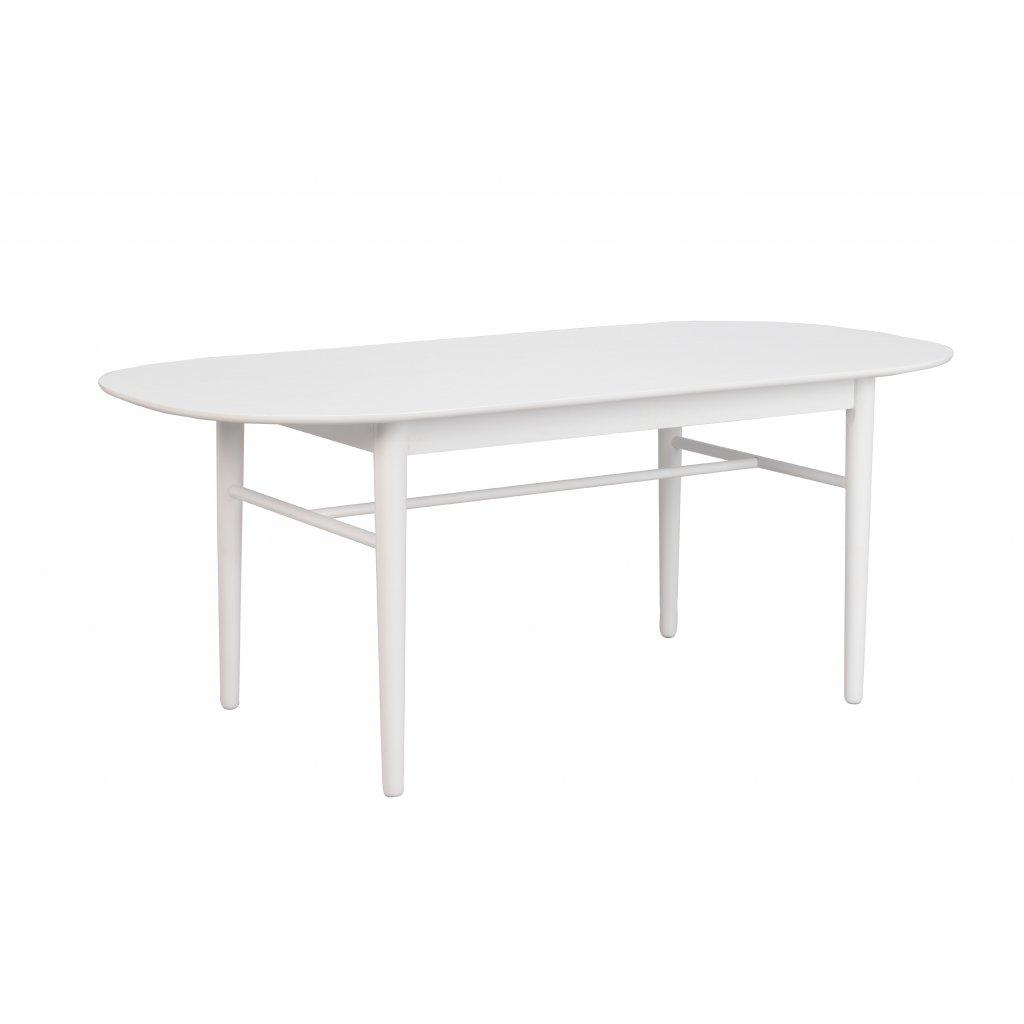 119750 b, Akita matbord ovalt, vit