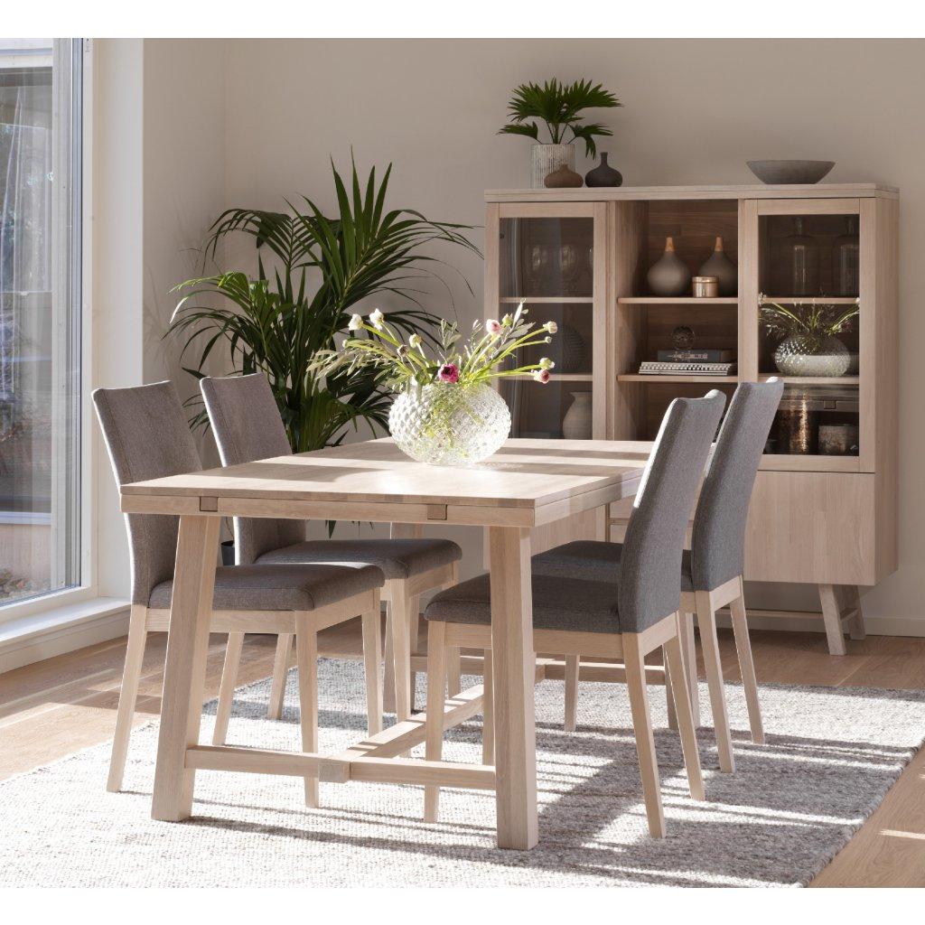 Brooklun matbord 170 ww + Bea stol ljusgrå ww R b