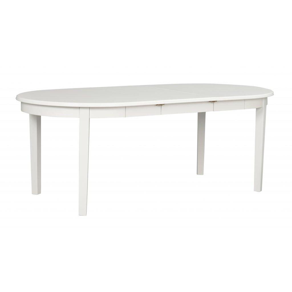 106533 a Koster ovalt matbord vitlack m 1 ilägg R