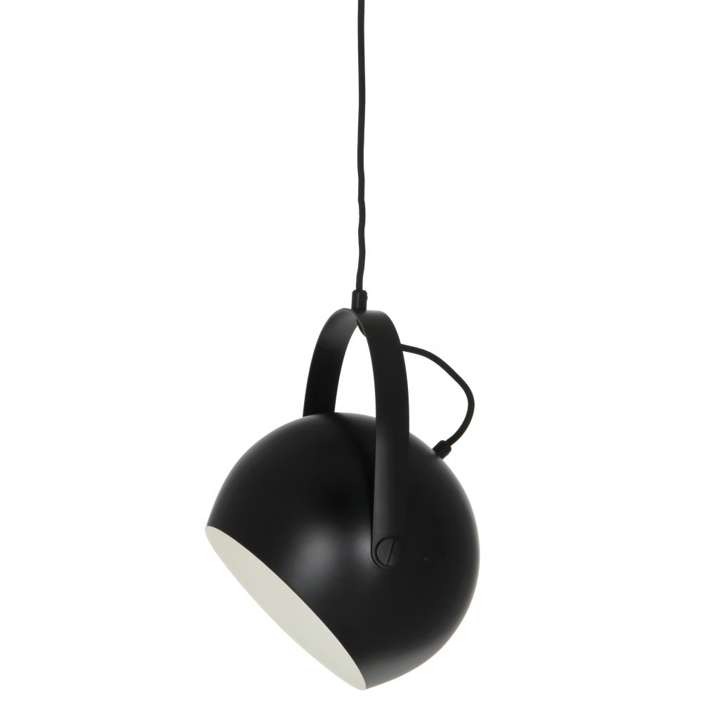 Ball Pendant with handle 18 cm black turned 1354
