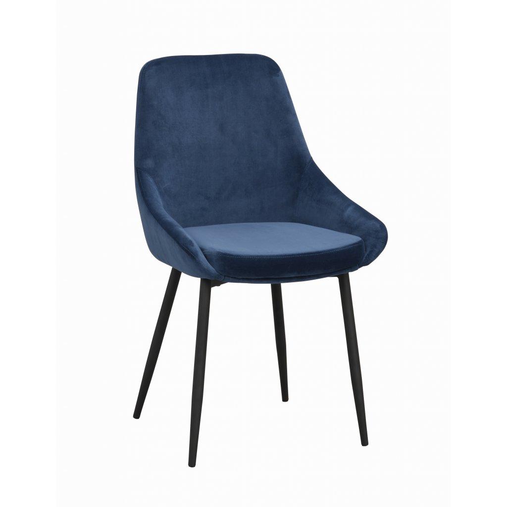 110396 b, Sierra stol mörkblå sammet R