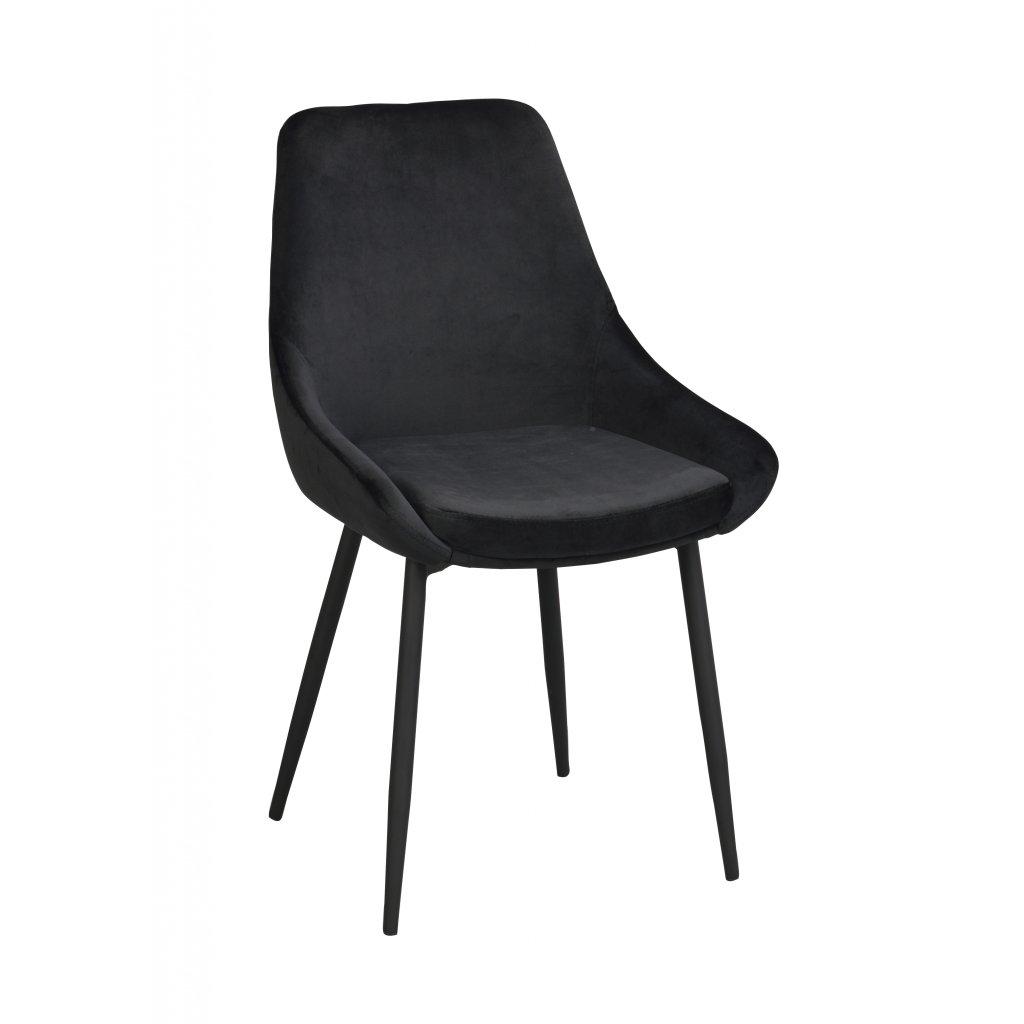 110467 b, Sierra stol svart sammet svart