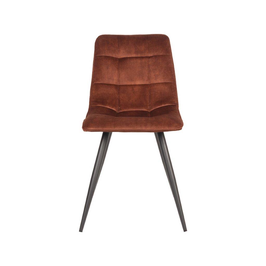 Sametová jídelní židle JELT oranžová