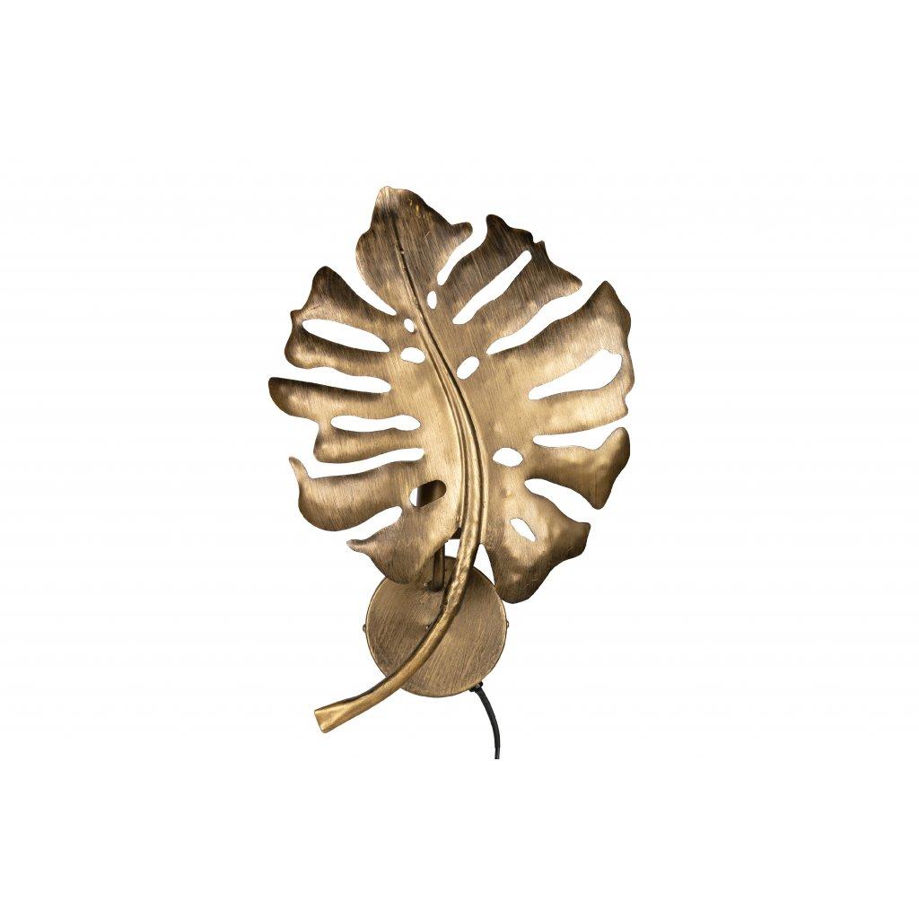5063 4 nastenna lampa leaf mosaz