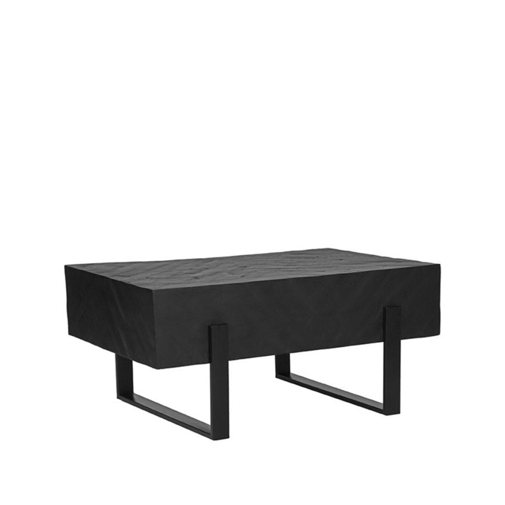 Salontafel Float Zwart Mangohout 90x60x40 cm