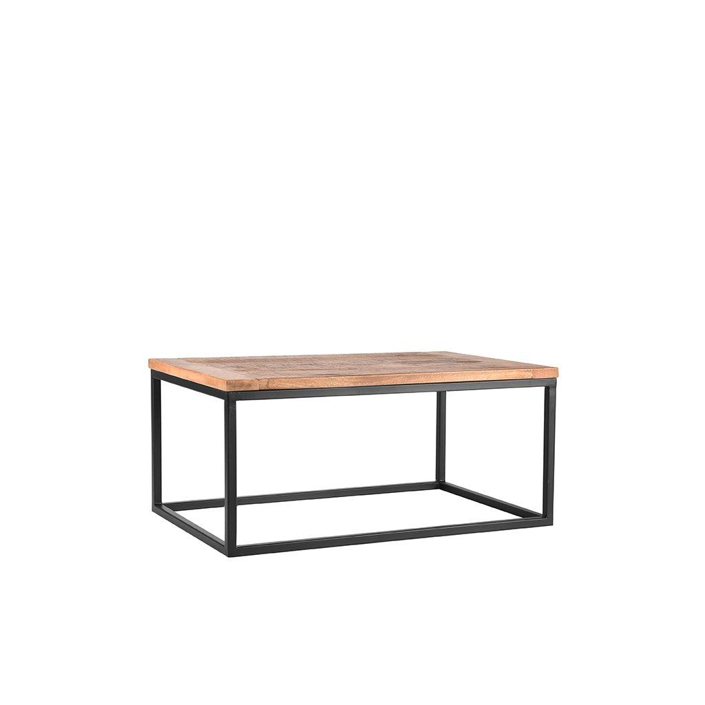 salontafel box rough mangohout 100x65x45 cm perspectief