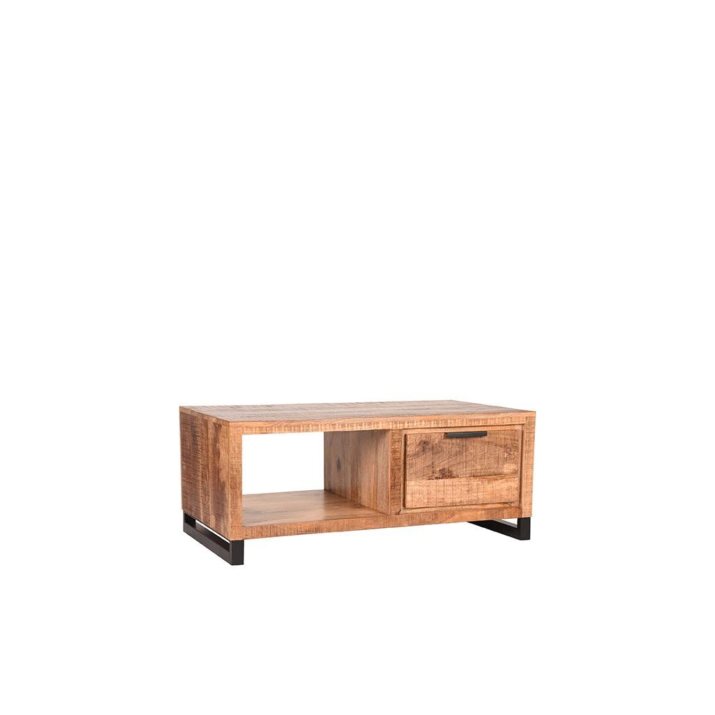 Salontafel Glasgow Rough Mangohout 110x60x45 cm Perspectief