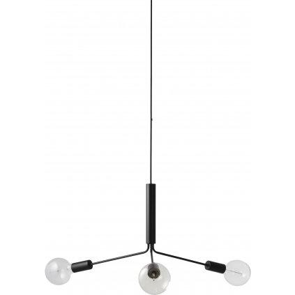 Grand Metro chandelier matt black 1166