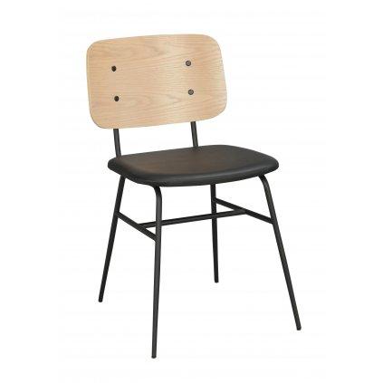 118983 b, Brent stol, vitpigm svart R