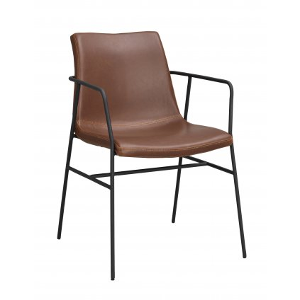 118621 b, Huntington karmstol, brun PU svart