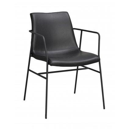118622 b, Huntington karmstol, svart PU svart