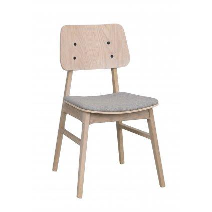 119431 b, Nagano stol, vitpigm. ek ljusgrå R2