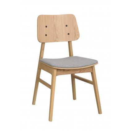 119430 b, Nagano stol, ek ljusgrå R