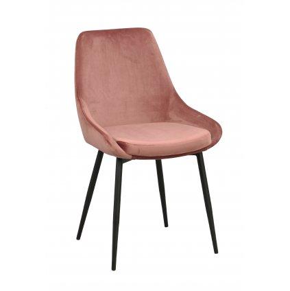 110388 b Sierra stol, rosa sammet R B