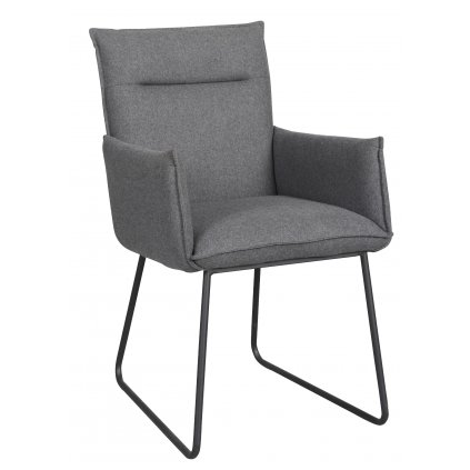 118673 b Yukon stol, grå svart