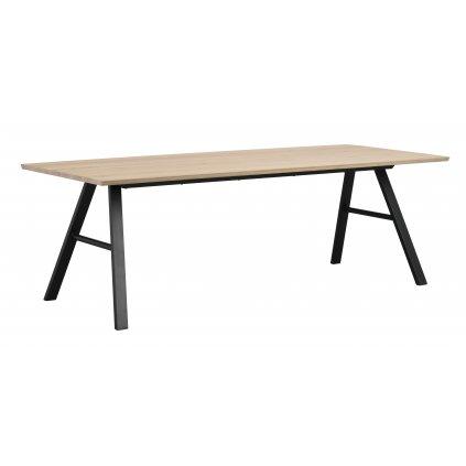 119400 b, Brigham matbord, vitpigm. vildek svart R