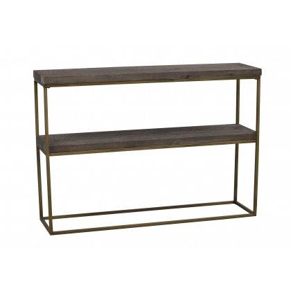 117233 a Dalton avlastningsbord brun grå guld R