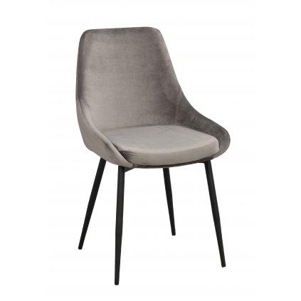 110387 b Sierra stol, grå sammet R