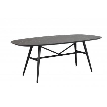 119730 b, Springdale matbord, svart marmorkeramik svart