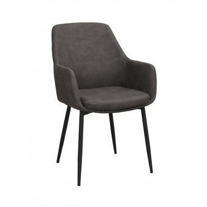 110457 b, Reily stol mörkgrå svart R
