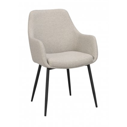 110459 b, Reily arm chair, beige fabric black