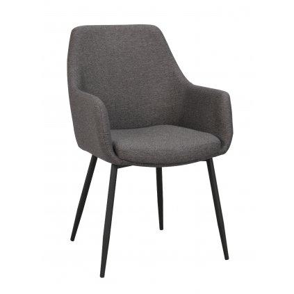 110458 b, Reily arm chair, grey fabric black