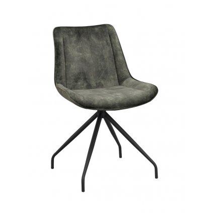 120081 b rossport chair green velvet black