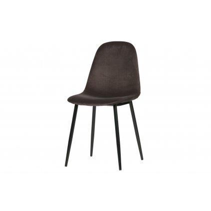 26474 1 set of 2 marije dining chair velvet grey
