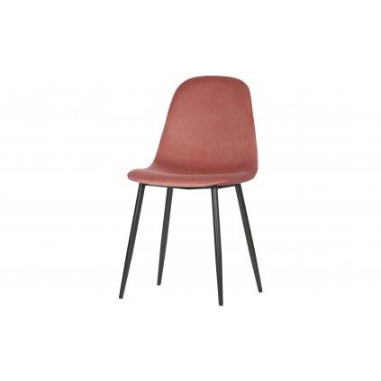 26498 1 set of 2 marije dining chair velvet old pink